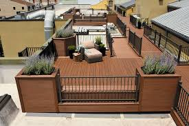 Azek decking on city condo