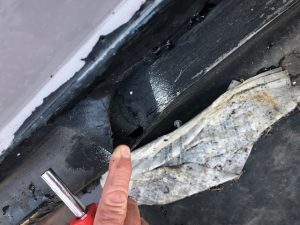 Roofing disintegrating