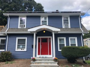 New siding, door, and trim