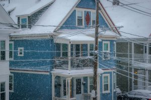 Brighton, MA Snowy House