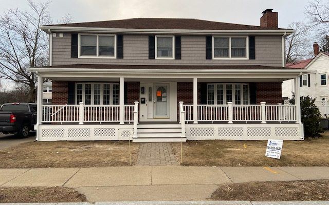 New Porch Roof, Siding & Deck