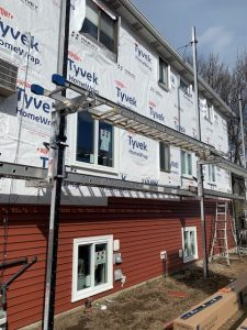Mid-Job Replacing Siding & Windows