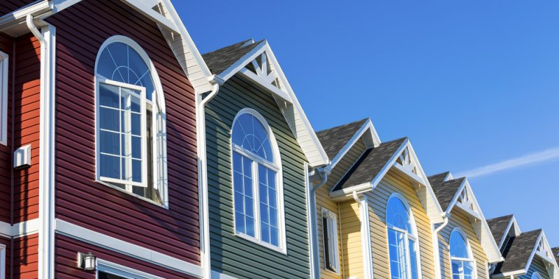 Colorful Townhouse Vinyl Siding